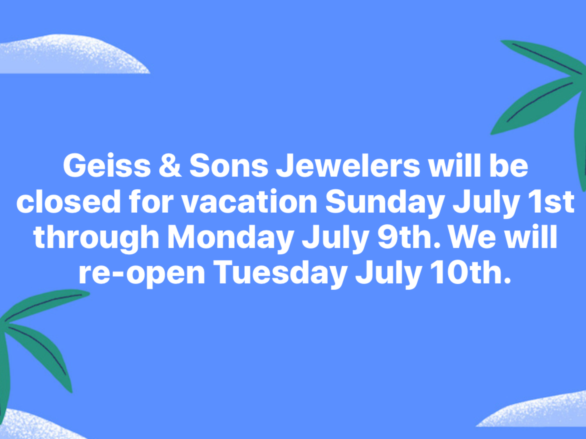 Vacation, Jewelers, Jewelry, Fine Jewelry, Jewelry Stores, Geiss and Sons, Greenville, South Carolina