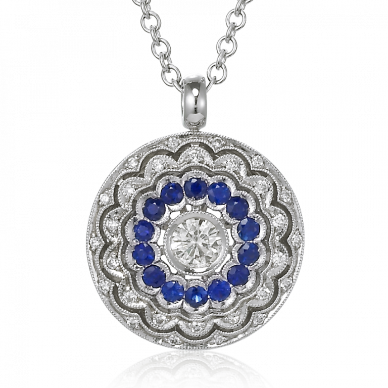XOJewels, Diamond, Necklace, Sapphire, Jewelry, Jewelry Stores, Fine Jewelry, Geiss and Sons, Greenville, South Carolina